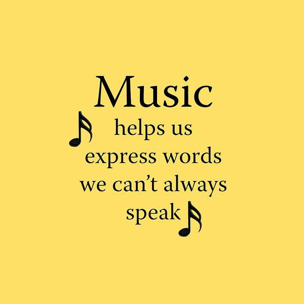 Photograph - Music Expresses Words by M K Miller