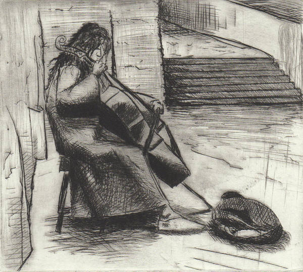 Drawing - Music In Prague  by Erik Paul