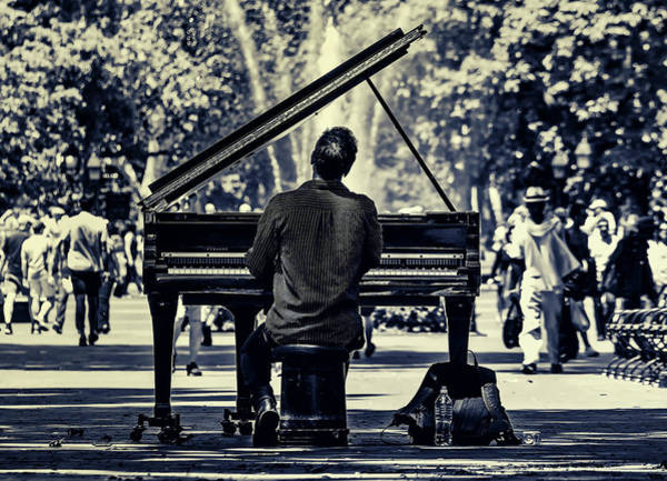 Player Piano Photograph - Music In The Park by Pixabay