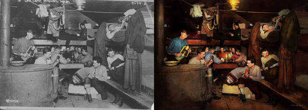 Photograph - Music - Jam Session 1918 - Side By Side by Mike Savad