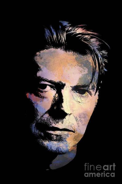 David Bowie Painting - Music Legend 2 by Andrzej Szczerski