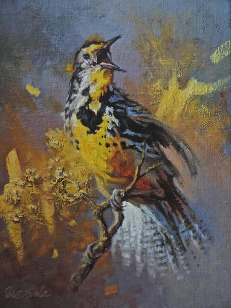 Meadow Lark Painting - Music Man by Mia DeLode
