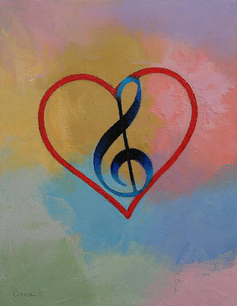 Pen Painting - Music Note by Michael Creese
