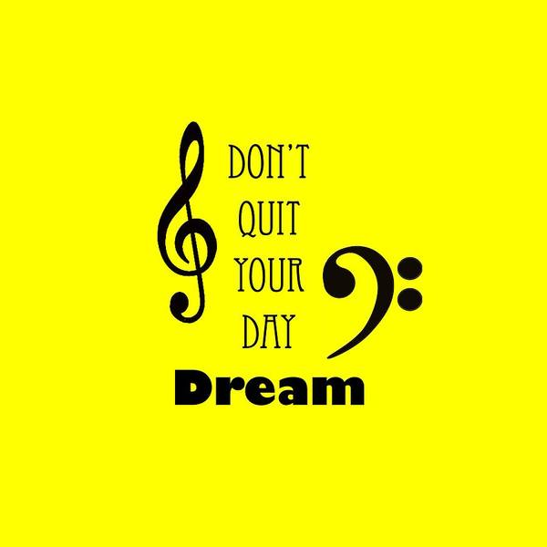 Photograph - Music Photograph Dont Quit Your Day Dreams 5241.01 by M K Miller