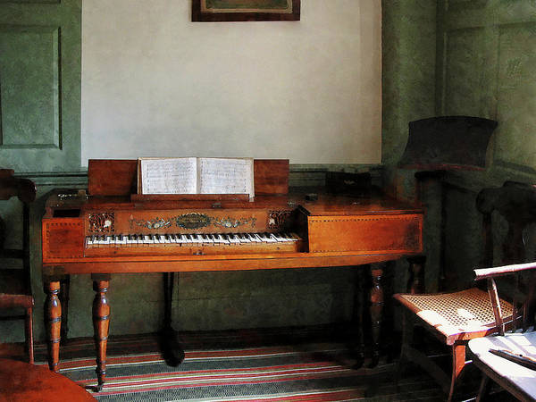 Photograph - Music Room With Piano by Susan Savad
