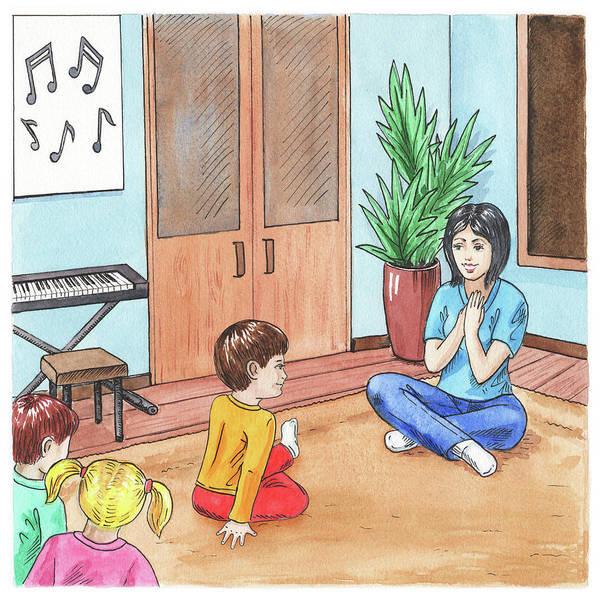 Painting - Music School Class Illustration by Irina Sztukowski