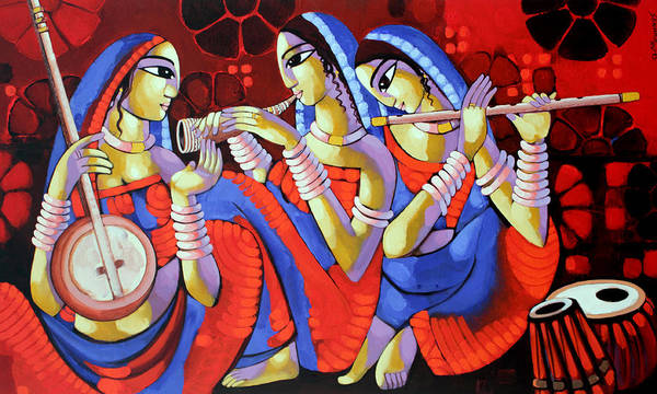 Painting - Music by Sekhar Roy