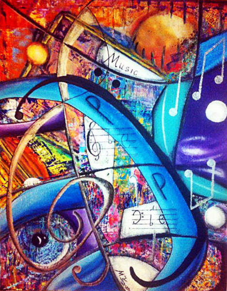 Michael Ferguson Wall Art - Painting - Music - Shapes by Michael Ferguson