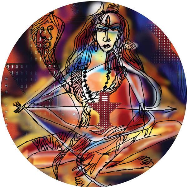Painting - Music Shiva by Guruji Aruneshvar Paris Art Curator Katrin Suter