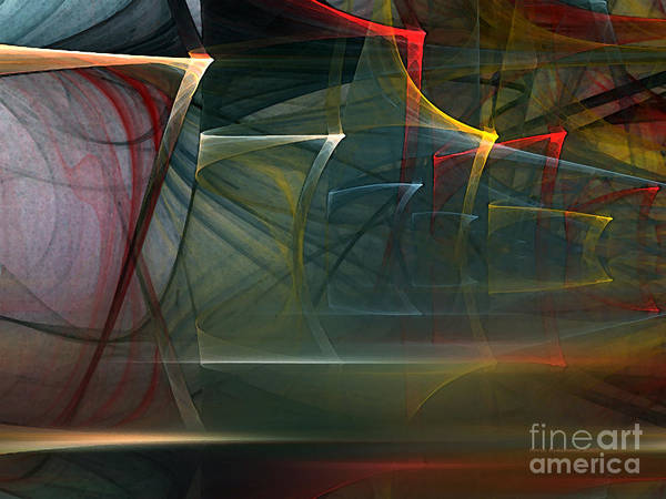 Translucent Digital Art - Music Sound by Karin Kuhlmann