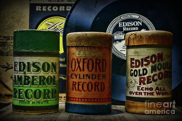 Wall Art - Photograph - Music Those Old Cylinder And Vinyl Records by Paul Ward