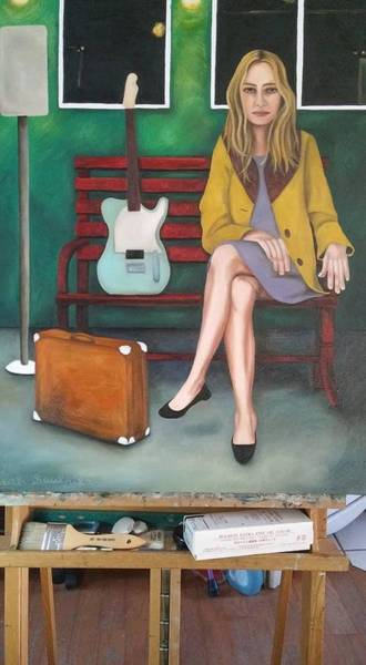 Painting - Music Traveler 2 Work In Progress by Leah Saulnier The Painting Maniac