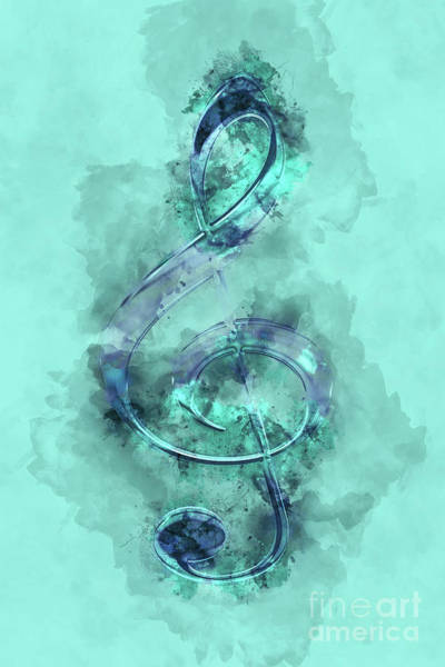 Wall Art - Painting - Music Watercolor by Delphimages Photo Creations