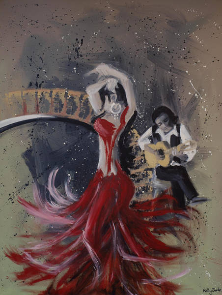 Flamenco Painting - Musica Espaniol by Kelly Jade King