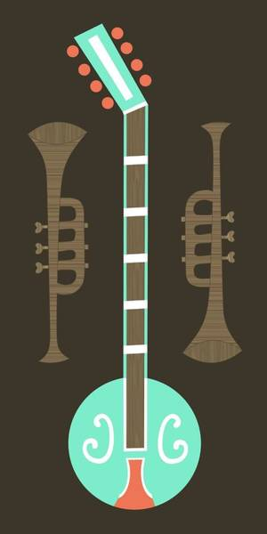Wall Art - Digital Art - Musical Instruments 4 by Donna Mibus
