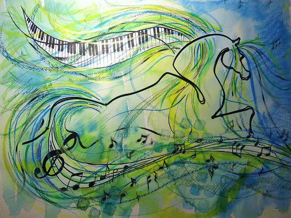 Wire Mixed Media - Musical Kur by Leitha Stone