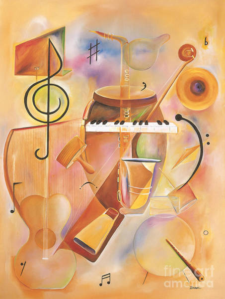 Wall Art - Painting - Musical Mix  by Ikahl Beckford