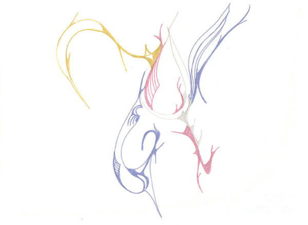 Drawing - Musical Scribblings by Mary Mikawoz