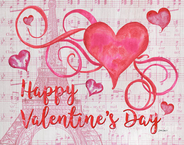 Presents Painting - Musical Valentine by Debbie DeWitt
