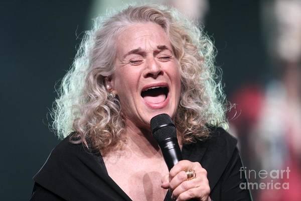 Carole King Photograph - Musician Carole King by Concert Photos