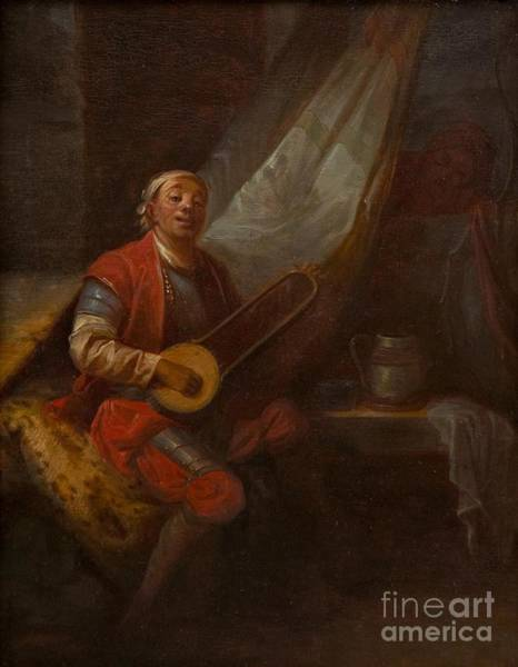 1781 Painting - Musician In A Russian Costume by MotionAge Designs