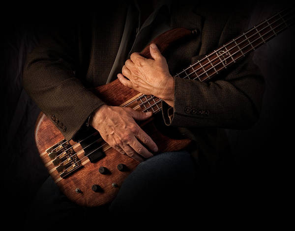 Electric Guitar Photograph - Musician's Hands by David and Carol Kelly
