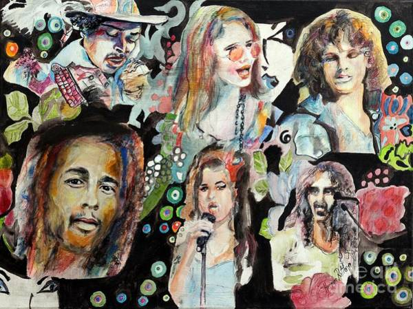 Frank Zappa Painting - Musicians by Hermine Ritter