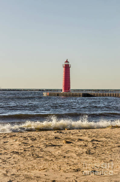 Photograph - Muskegon South Pierhead Light by Sue Smith