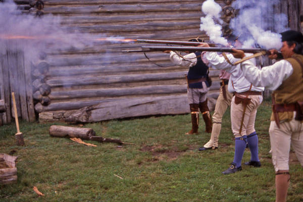 Manskers Station Photograph - Musket Fire - 1 by Randy Muir