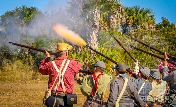 Photograph - Musket Fire by Tom Claud