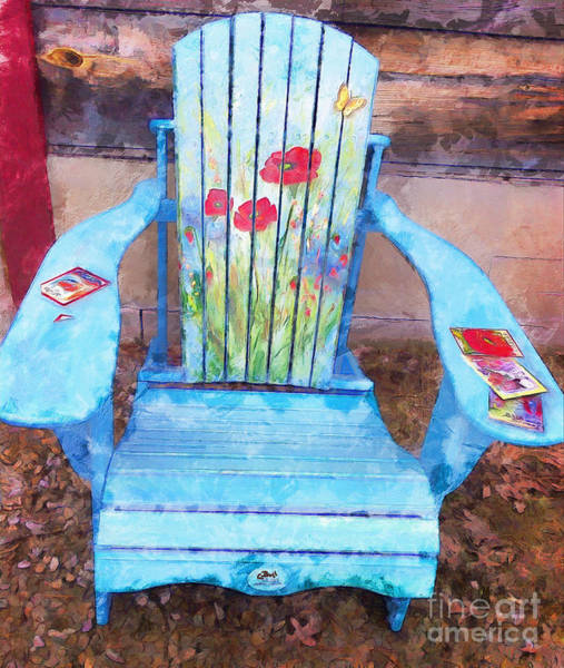Painting - Muskoka Chair With Flowers by Claire Bull