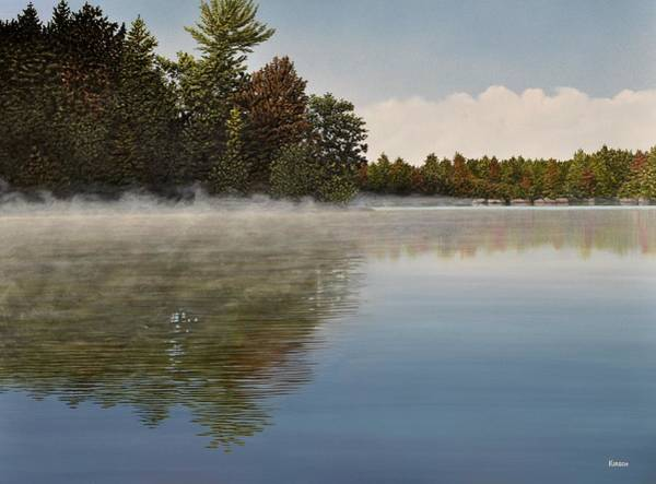 Painting - Muskoka Morning Mist by Kenneth M Kirsch