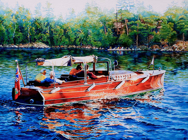 Cruiser Painting - Muskoka Woody by Hanne Lore Koehler