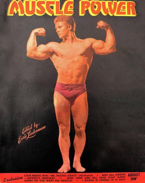 Wall Art - Photograph - Muscle Power Mag Aug 1947 by David Lee Thompson