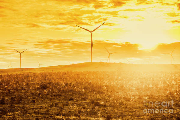Farm Equipment Photograph - Musselroe Wind Farm by Jorgo Photography - Wall Art Gallery