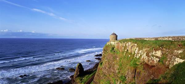 Horizontally Photograph - Mussenden Temple, Portstewart, Co by The Irish Image Collection