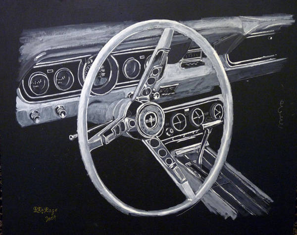 Painting - Mustang Dash by Richard Le Page