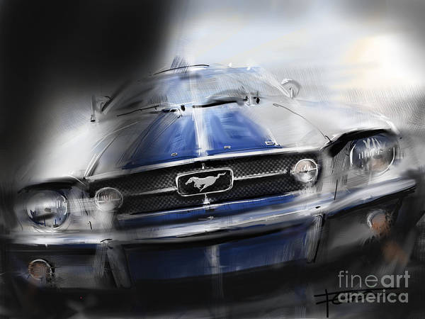 Front Room Digital Art - Mustang Fastback Gt by Peter Fogg