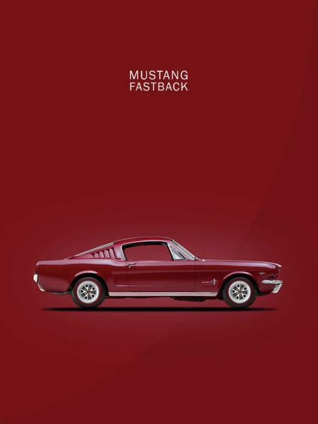 1965 Photograph - Mustang Fastback by Mark Rogan