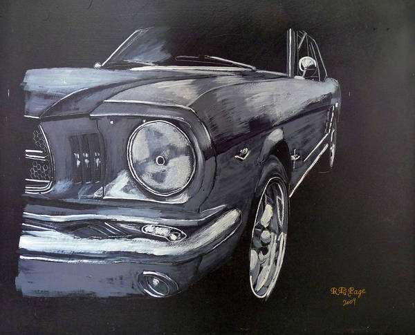Painting - Mustang Front by Richard Le Page