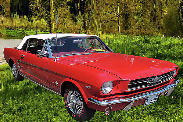 Painting - Mustang by Harry Warrick