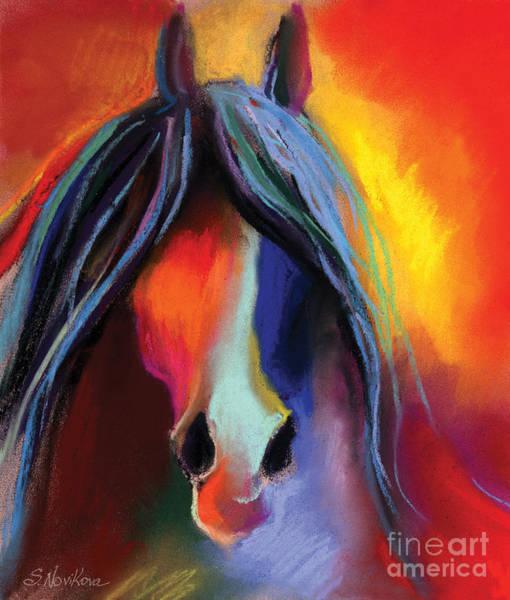 Painting - Mustang Horse Painting by Svetlana Novikova