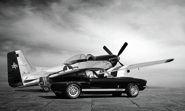 Wall Art - Digital Art - Mustang Legends by Peter Chilelli