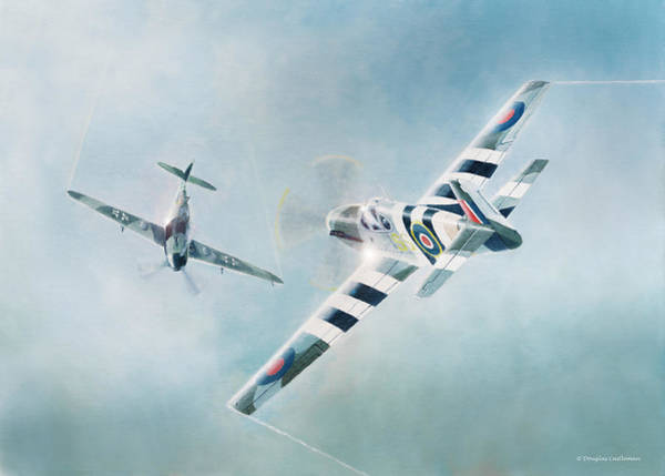 Painting - Mustang Mark 3 by Douglas Castleman