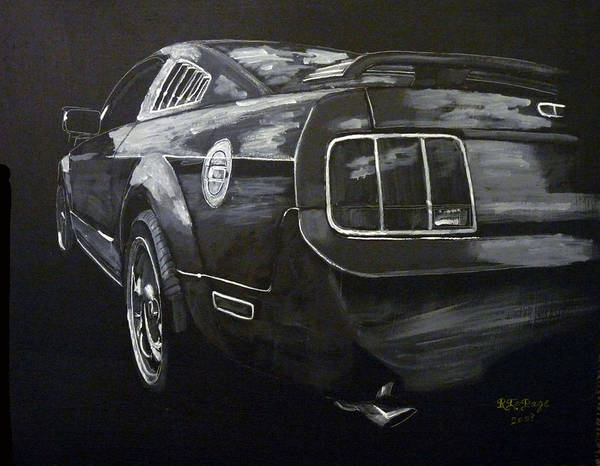 Painting - Mustang Rear by Richard Le Page