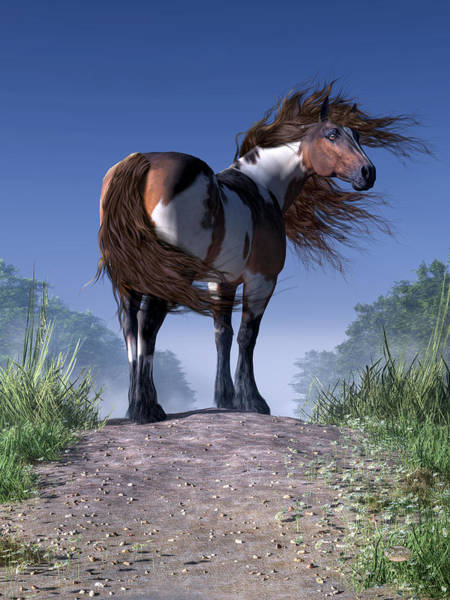 Wall Art - Digital Art - Mustang Trail by Daniel Eskridge