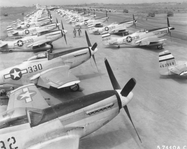 Photograph - Mustangs On Iwo Jima 1945 by John King