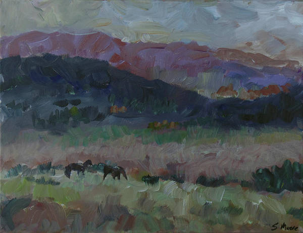 Painting - Mustangs by Susan Moore
