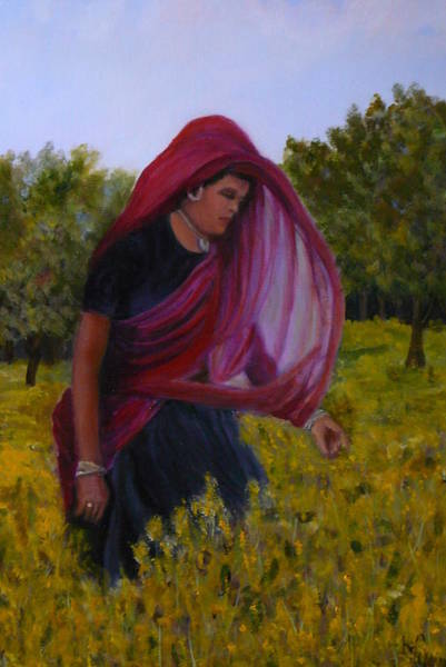 Mustard Field Painting - Mustard Fields Of India by Betty Pimm