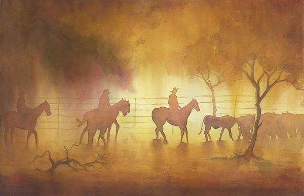 Wall Art - Painting - Mustering by James Stead